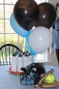 softball party decor