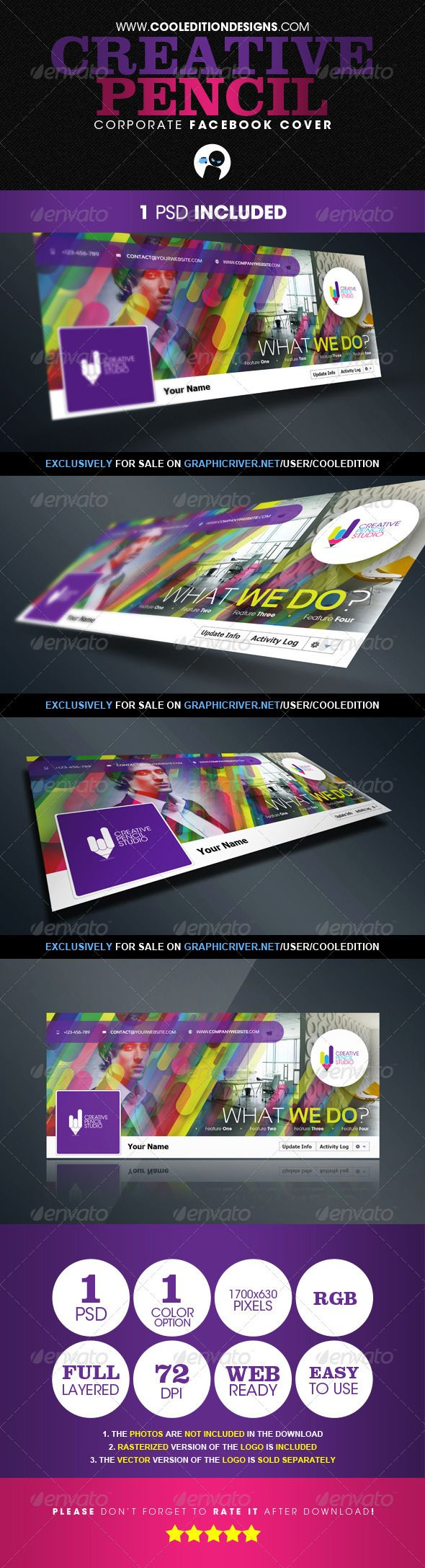 Creative Pencil - Corporate Facebook Cover - GraphicRiver Item for Sale