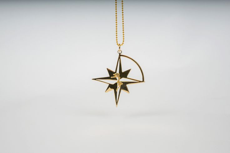 Compass Star in Gold plated Bronze by THE BRITELINE