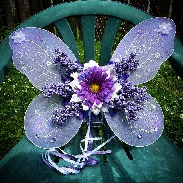 Custom purple wings