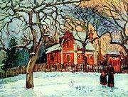 """New artwork for sale! - """" Chestnut Trees Louveciennes Winter 1872 by Pissarro Camille """" - http://ift.tt/2Dks90v"""