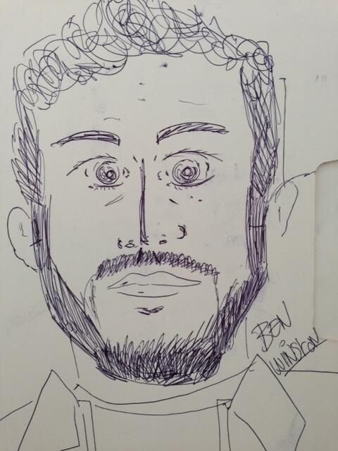 Zayn's drawing of Ben Winston!