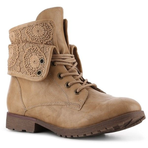 Rock & Candy Spraypaint Lace Combat Boot | DSW ($50) ❤ liked on Polyvore featuring shoes, boots, ankle booties, botas, combat booties, lace boots, lace ankle booties, military boots and lace booties