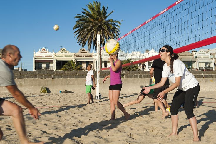 Beach volley ball at the end of Victoria Avenue