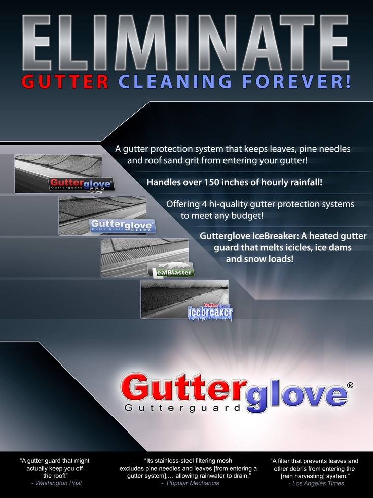 Gutterglove Eliminates Gutter Cleaning Forever!