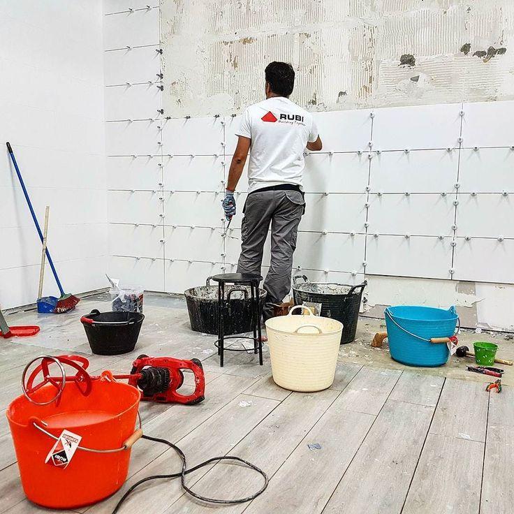 Do not disturb! We are fixing tiles  #TeamRubi . . #tile #tiles #tilecutter #time2tile #tradesman #tradesmen #construction #building #builder #redpower #ilovemyjob #hardwork #tuesday #igers