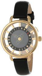 Vivienne Westwood Women's VV055BKBK Tate Swiss Quartz Black Leather Strap Watch