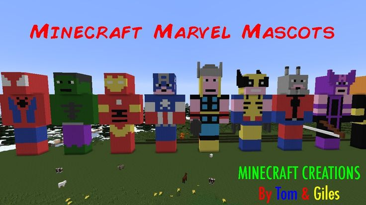 Minecraft Marvel Statues