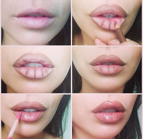 How to fake big lips. not like my lips are small but I like making them look even bigger! :)