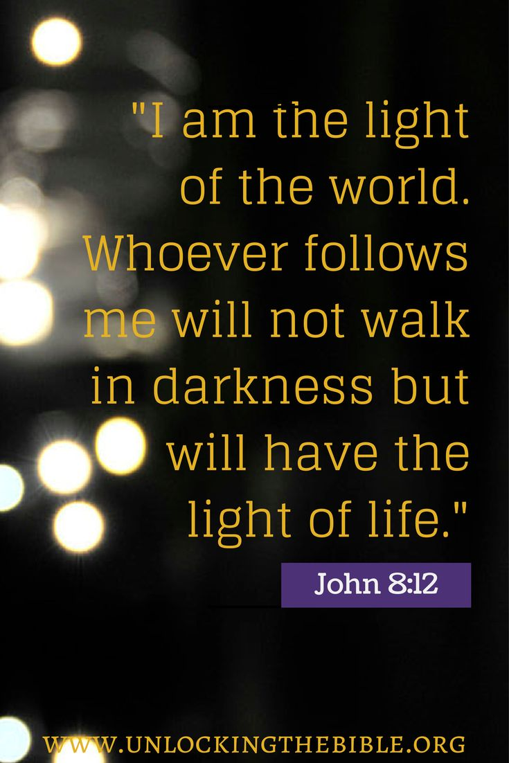 5. The Light of the World | Bible.org