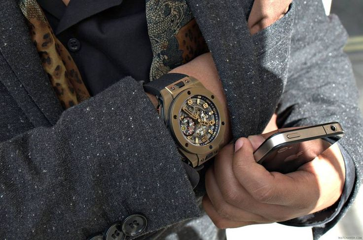 Hublot skeleton watch. Every men should have this watch! Check more photos in my instagram http://ift.tt/2jlERkI