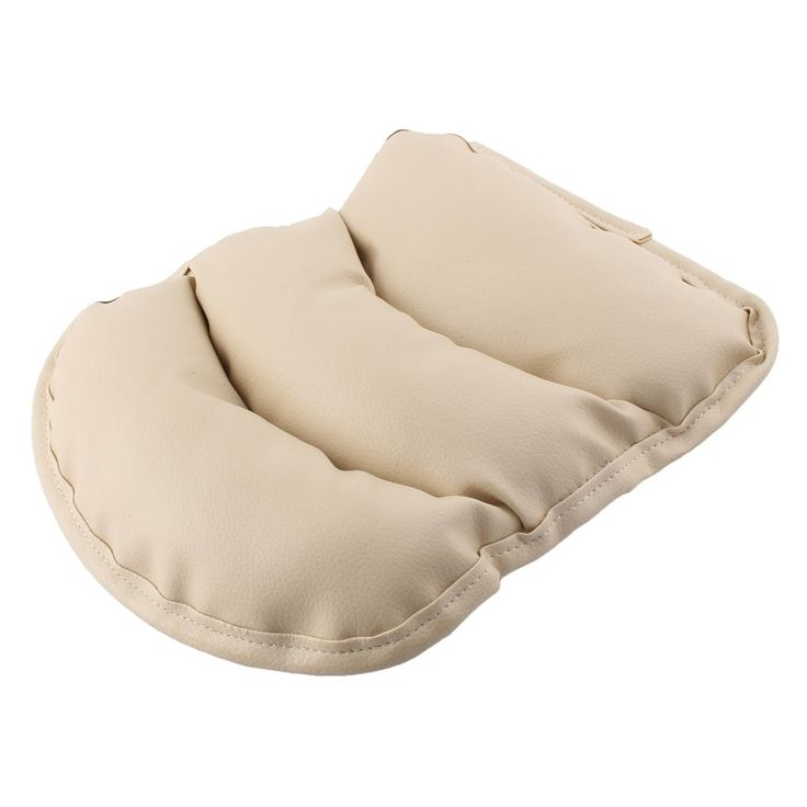 Unique Bargains Car Faux Leather Shell Support Cushion Cover Seat Arm Rest Pad Beige, Outdoor Cushion