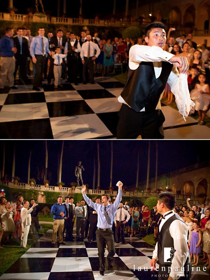 #LaurenPaulinePhotography #WeddingPhotos #TampaWeddingPhotographer #GarterToss #RinglingMuseumWedding