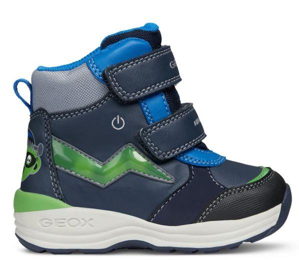 Geox Chlapčenské zimné topánky New Gulp - modré 3817e47ba4e