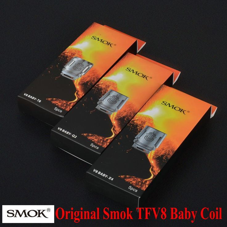100%オリジナルsmok tfv8赤ちゃんコイルヘッドv8 baby-t8 v8 Baby-T6 v8 Baby-X4 v8 Baby-Q2コア用TFV8ベビー獣タンク