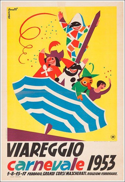 Viareggio - carnevale 1953 - (Uberto Bonetti) -
