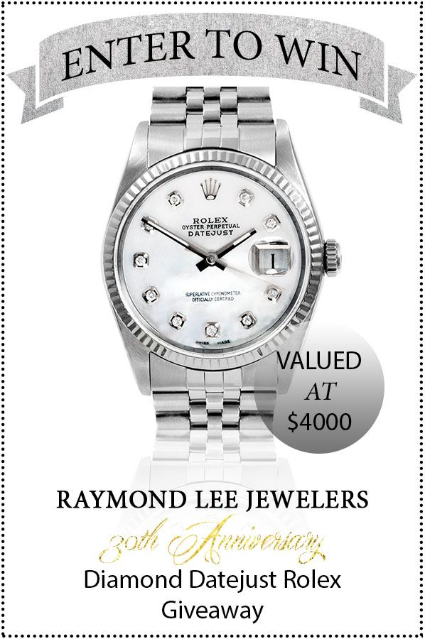 We're celebrating our Diamond Anniversary by giving away a diamond dial Rolex Datejust in Stainless Steel and Mother of Pearl.