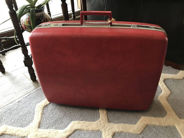 A personal favorite from my Etsy shop https://www.etsy.com/listing/569855431/vintage-red-samsonite-hard-case-suitcase