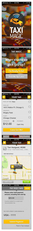 Taxi Magic - simple and good UI