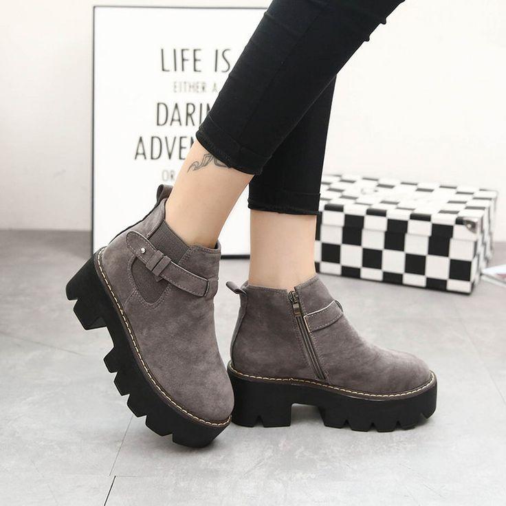 Купить товар2015 осень и зима мода женские мартин сапоги обувь мода короткие сапоги в категории Сапоги и ботинкина AliExpress.   ДЕТАЛИ ПРОДУКТА