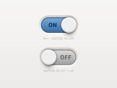 Dribbble - Switch Button by Gavin Qi
