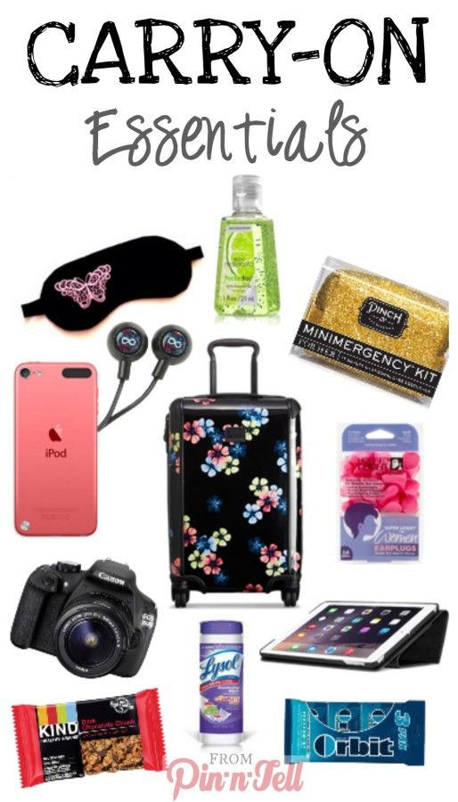 What should you pack for a trip? What items do you HAVE to have? Check out these carry-on essentials
