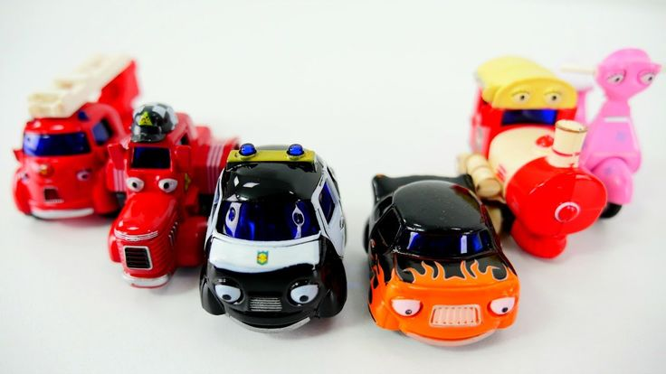 Видео для детей про машинки: Герои нашего города - пожарная, полицейская...