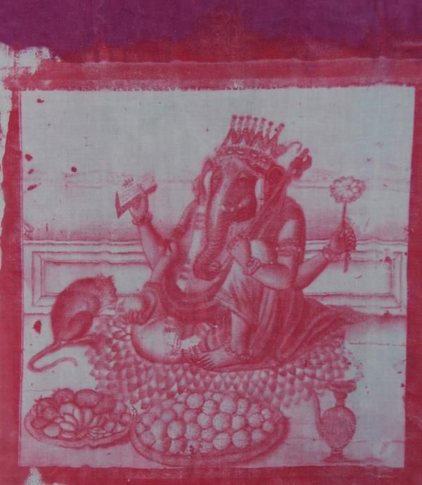red and pink - Lord Ganesha the destroyer of obstacles - I love him and used an historical work 100s of years old to create this print so people can have altar pieces, purses, tshirts, pillows with Ganesha - I love the son of Shiva and Parvati http://yoyoro.net #yoyoro #retail #wholesale #artprints #Ganesha