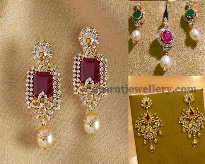 Jewellery Designs: Diamond Earrings from Mehta Jewelry