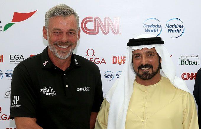 Mena Golf Tour Patron Darren Clarke #dubai #golf #uaegolf