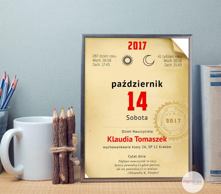 #memorabli #handmade #poster #plakat #koniecroku #dlanuczyciela #podziekowania #dyplom #przedszkolak #dziennauczyciela #kartka #kartkazkalendarza