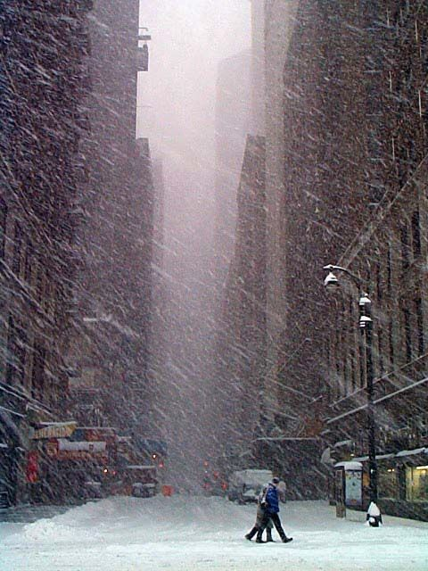 NYC. Cold, snowy Manhattan . . . how beautiful I want to visit new york on a snowy day!!