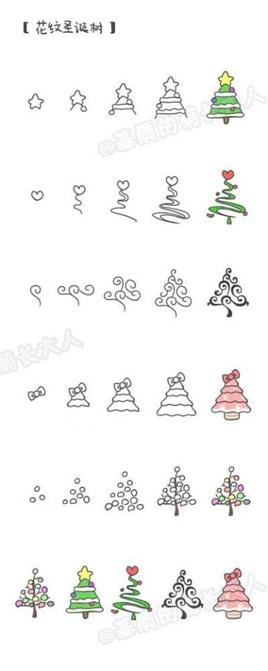 Krijtstift kerstboom