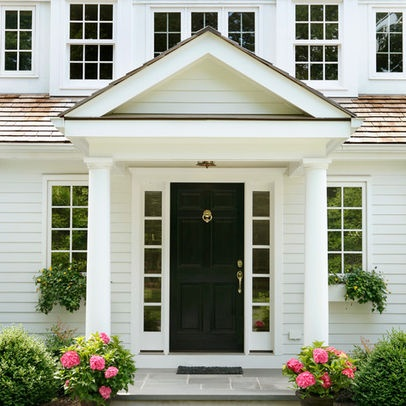 30 best images about stoops overhangs and pergolas on for Traditional front doors