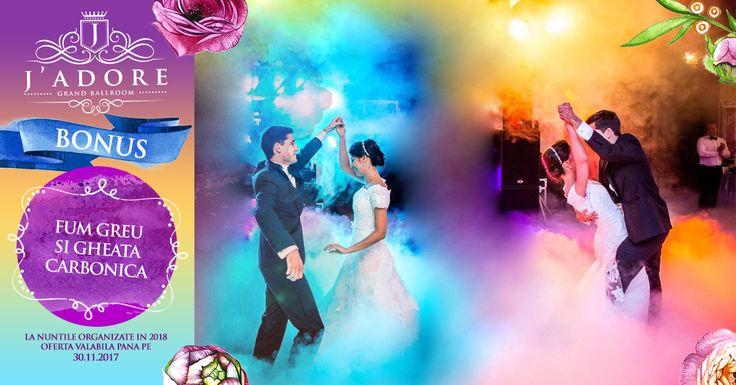 J'adore Grand Ballroom (saloanele Miracle, L'amour si Elegance) Oferta Nunta 2018  Va oferim BONUS Fum Greu si Gheata Carbonica pentru nuntile organizate in 2018! Mai multe detalii: ☎️ 0761 280 642 ; 0747 999 998 ➡️ http://jadore-ballroom.ro/meniu-nunta-bucuresti-sector-2-3…/