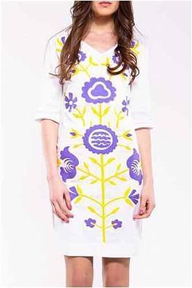 Almatrichi Floral Print Embellished Dress - Enviius