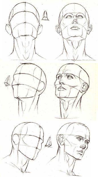 Portrait – Verschiedene Blickwinkel und Perspektiven des Kopfes – #winkeln #Ziehen #pers