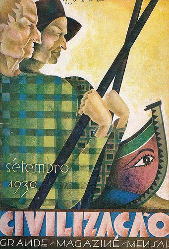Roberto Nobre, (1903-1969), ilustração para a capa do magazine Civilização, número 27, Setembro de 1930.
