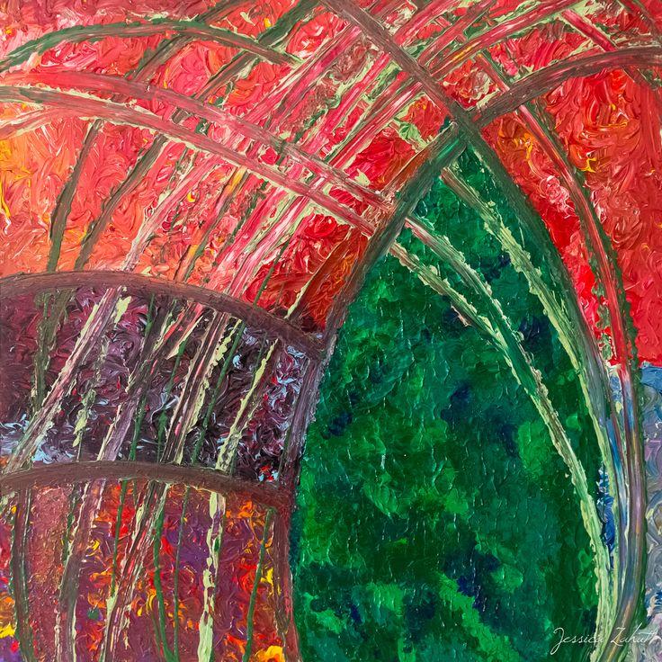 Acrilico su legno (76x80) Jessica Zahut , finger painting artist , Florence , Italy