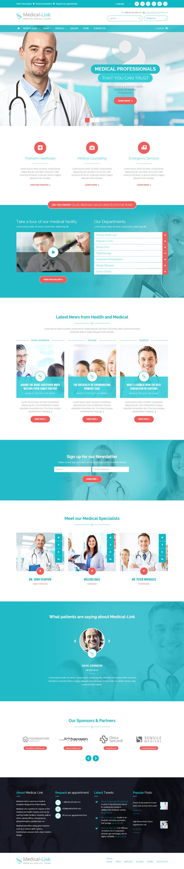 Medical-Link is Premium full Responsive Medical HTML5 Template. Bootstrap Framework. Retina Ready. Parallax Scrolling. http://www.responsivemiracle.com/cms/medical-link-premium-responsive-medical-html5-template/
