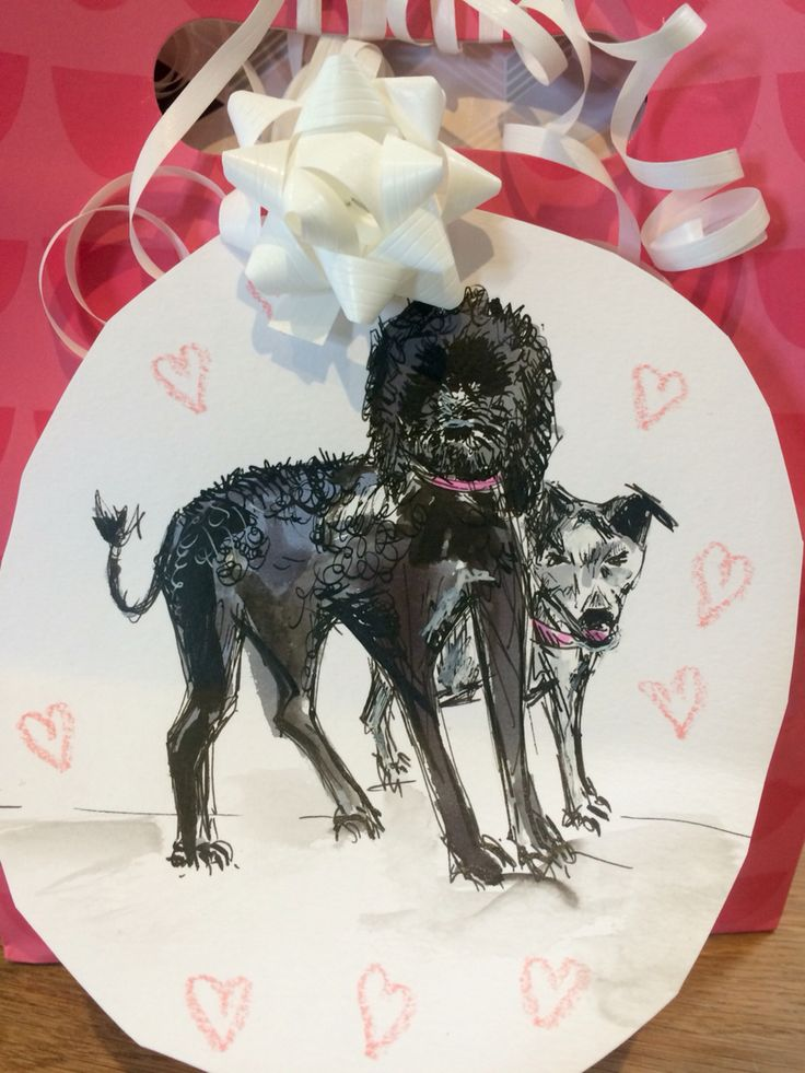 Gift Tag for my brothers Wedding present #bertandbean #cockapoo Doodle & Chutney mutt