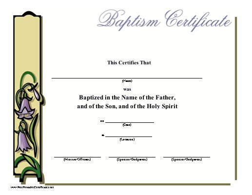 20 best baptism images on pinterest certificate for Baptism certificate template pdf