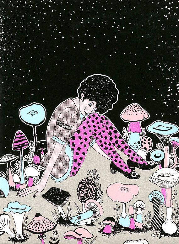 Celeste au pays des champignons par GalaxiePop sur Etsy, $110.00