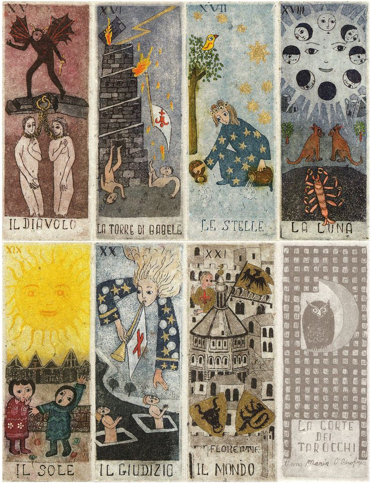 Tarot D The Didactic Tarot By Jeffrey M Donato: 88 Best Anna Maria D'Onofrio Tarot Images On Pinterest