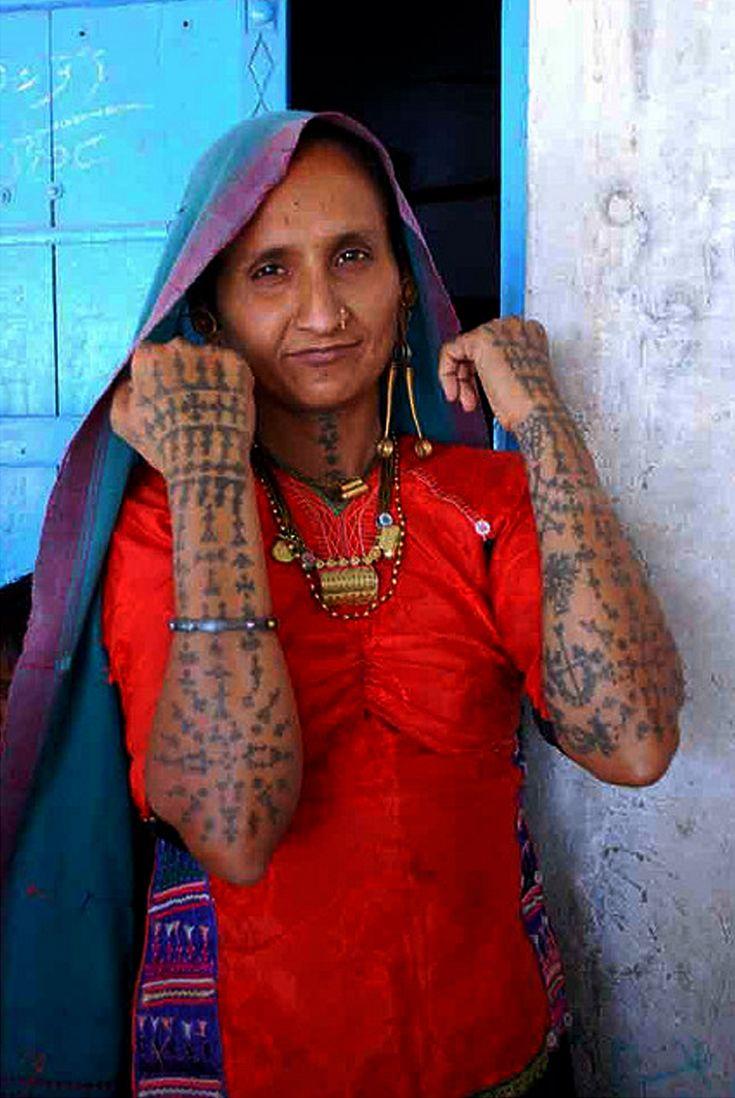 India kachchhi rabari tattoos kantilal doobal for Indian woman tattoo