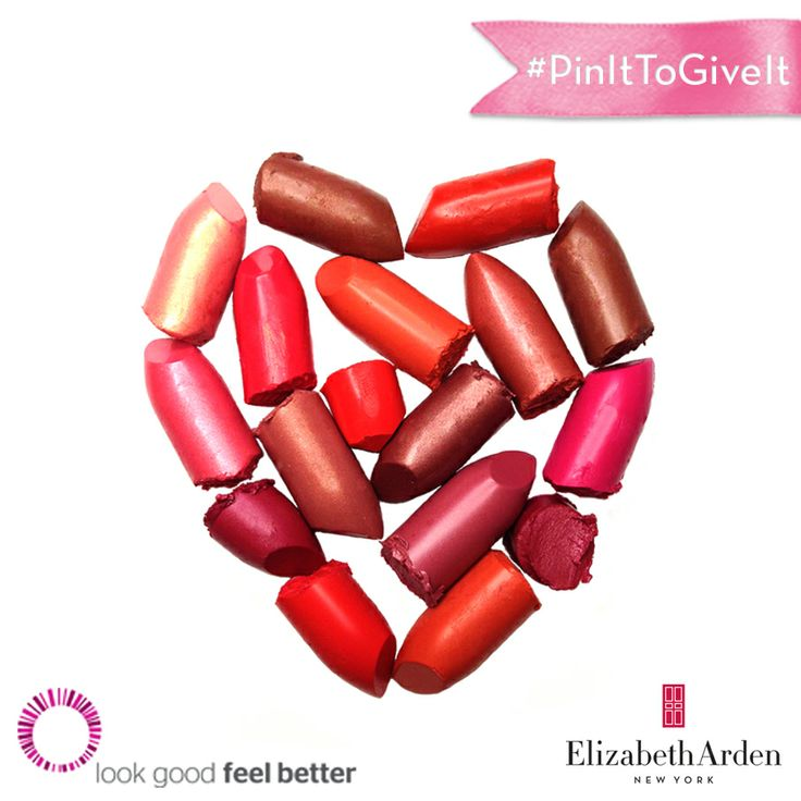 Spread the <3 this month w/ #PinItToGiveIt. Every repin on our Pinterest board equals one lipstick donation to women battling cancer.