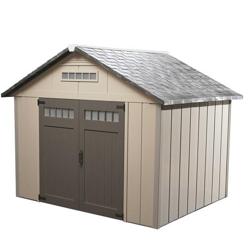 homestyles 10 x 10 x 8 34 vinyl storage building