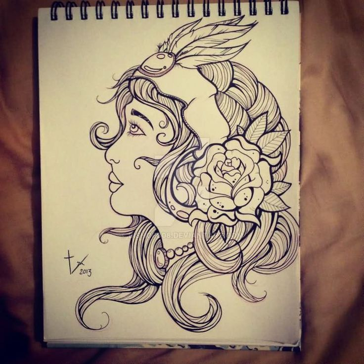 Tattoo Outlines For Girls: 24 Best Girl Tattoo Outlines Images On Pinterest