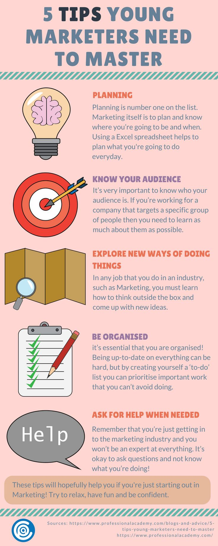 5 Tips Young Marketers Need to Master - Created by www.professionalacademy.com #marketing #digitalmarketing #marketingtips #marketingtipoftheday