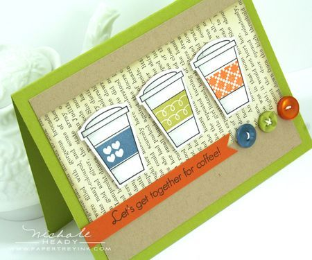 coffee card   Papertrey Ink